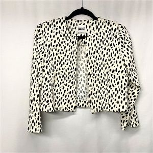 Leslie Fay Vintage Black and White Spotted Blazer
